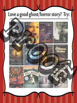 If you like ghost/horror stories...Try (these) middle school recommended books!