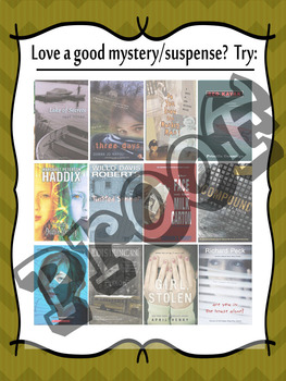 If you like mystery/suspense reads..try (these) middle school recommended books!
