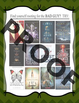 If you like rooting for the bad guy, try.....  Book Recommendation Poster
