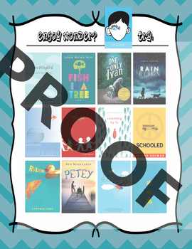 If you like the book Wonder by R.J. Palacio, try....  Recommendation Poster