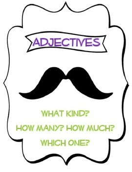 "If you ""mustache"" Adjectives and Articles"