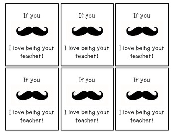 If you mustache, I love being your teacher