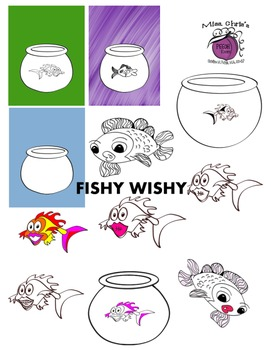 If you  wishy for a fishy. . . . here are some for {FREE CUTE CLIPART}
