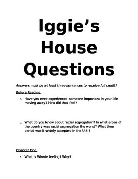 Iggie's House Questions