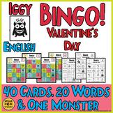 Iggy Valentine's Bingo Games and Quizzes.  English, ELL, ESL Vocabulary Games.