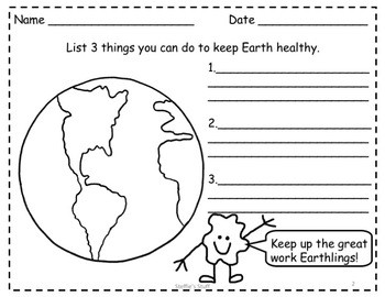 Earth Day PowerPoint and Printable Worksheets