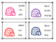 Igloo Color Sight Word Clip Cards