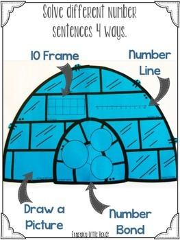 Igloo Math Addition Craftivity