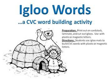 Igloo Words - A Winter CVC word building activity