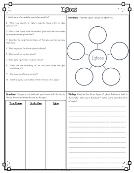 Igloos Differentiated Reading Passages & Questions