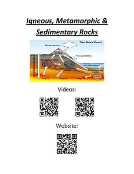 Igneous, Metamorphic & Sedimentary Rock QR Codes
