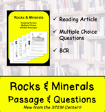 Rocks & Minerals Reading Passages and Questions (Distance Learning)