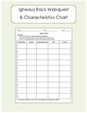 Igneous Rock Characteristic Chart - Webquest