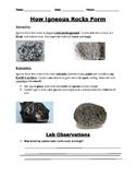 Igneous Rock Type Lab