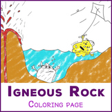 Igneous Rock - coloring page