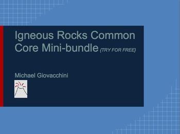 Igneous Rocks Common Core Mini-Bundle {Try Me For Free!}