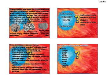 Igneous Rocks Flash Cards