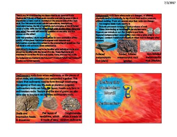Igneous Rocks Flash Cards