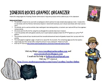 Igneous Rocks Graphic Organizer