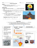 Igneous Rocks Guided Notes and Worksheet