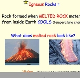 Igneous Rocks (Rock Cycle) - Lesson Presentation, Diagrams, Videos