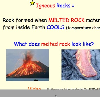 igneous rocks (rock cycle) - lesson presentation, diagrams, videos by jts23