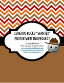 "Igneous Rocks ""Wanted"" Poster Writing Project"