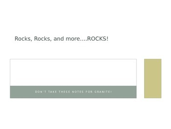 Igneous, Sedimentary, and Metamorphic Rocks