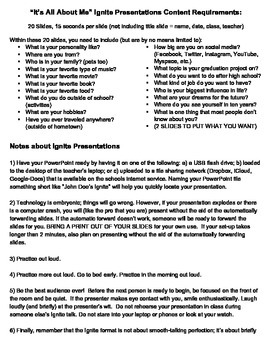 Ignite Presentation Handout / Project