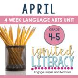 Grade 4/5 Ignited Literacy APRIL {Pack 8} Spiralled Junior