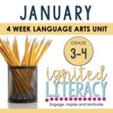 Grade 3/4 Ignited Literacy JANUARY {Pack 5} Spiralled Juni