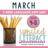 Grade 4/5 Ignited Literacy MARCH {Pack 7} Spiralled Junior