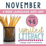 Ignited Literacy NOVEMBER {Pack 3} Spiralled Junior Literacy Program