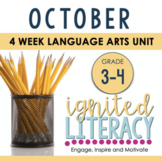 Grade 3/4 Ignited Literacy OCTOBER {Pack 2} Spiralled Juni
