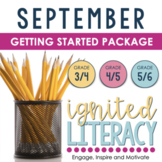 Ignited Literacy SEPTEMBER  {Pack 1} Spiralling Your Language Arts
