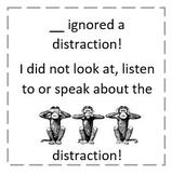 Ignoring Distractions: Tickets & Reward Menu