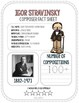 Stravinsky, Classical Composer, June, Summer, Handwriting, Music, Symphony