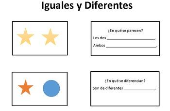 Iguales y Diferentes/Compare & Contrast Visual