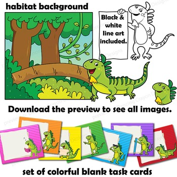 Iguana Clip Art with Signs