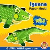Iguana Craft Activity | 3D Paper Model