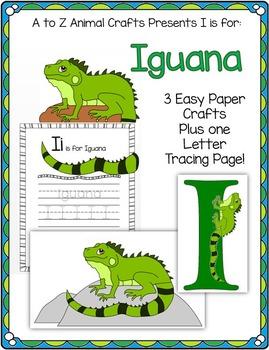 iguana and letter i crafts