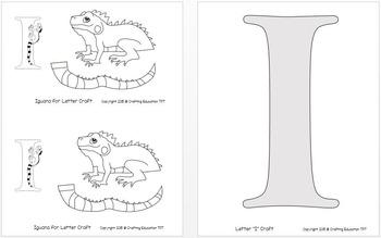 "Iguana and Letter ""I"" Crafts"