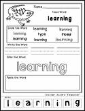 Iguana - Editable Word Worksheet w/ Theme Focus