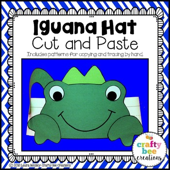 Iguana Hat Cut and Paste