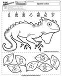 Iguana Inches Ruler