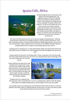 Iguazu Falls, Africa - Field Sketch