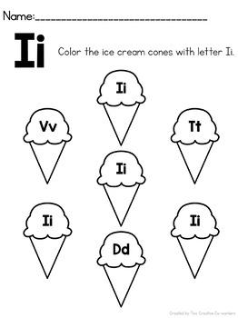 Letter I { Alphabet Practice }