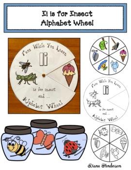 Ii is for Igloo Alphabet Wheel