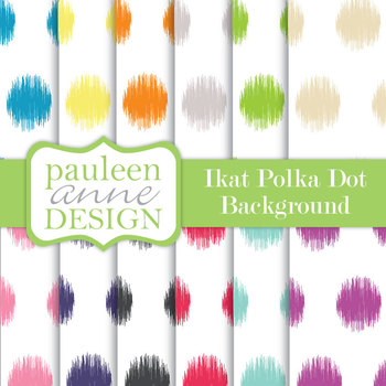 Ikat Polka Dots Backgrounds