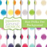 Ikat Polka Dots Backgrounds